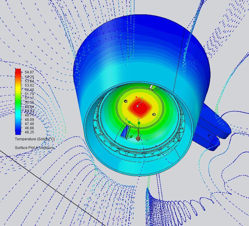 simulazione termica con simcenter floefd